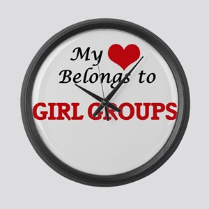 My heart belongs to Girl Groups Large Wall Clock
