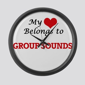 My heart belongs to Group Sounds Large Wall Clock