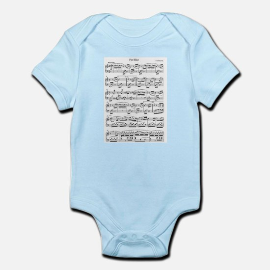 Beethoven, Fur Elise Body Suit