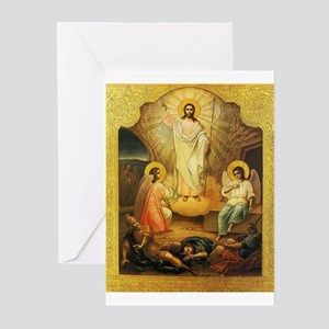 Vintage Retro Russian Religious Eas Greeting Cards