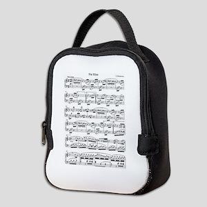 Beethoven, Fur Elise Neoprene Lunch Bag