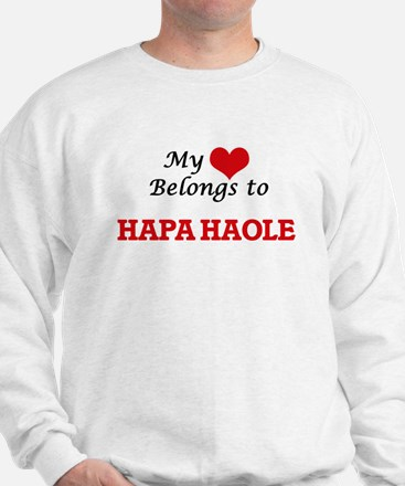 My heart belongs to Hapa Haole Sweatshirt