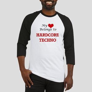 My heart belongs to Hardcore Techn Baseball Jersey
