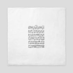 Beethoven, Fur Elise Queen Duvet