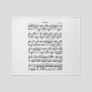 Beethoven, Fur Elise Throw Blanket