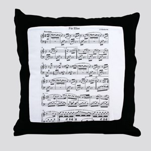 Beethoven, Fur Elise Throw Pillow
