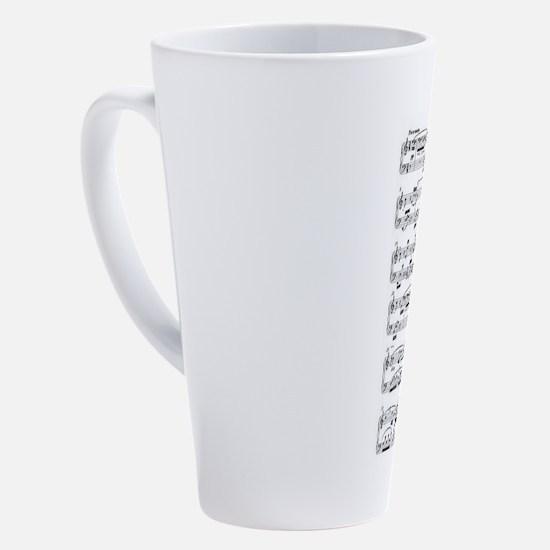 Beethoven, Fur Elise 17 oz Latte Mug