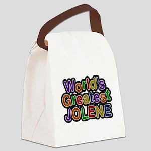 Worlds Greatest Jolene Canvas Lunch Bag