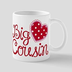 Heart Big Cousin Mugs