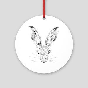 March Hare Round Ornament