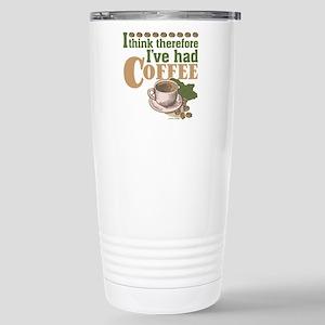 Coffee Think Retro Stainless Steel Travel Mug
