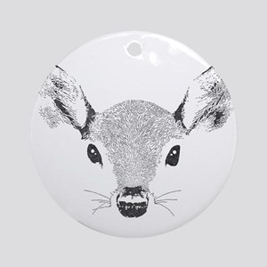 Doe a Deer Round Ornament