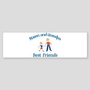 Mason & Grandpa - Best Friend Bumper Sticker