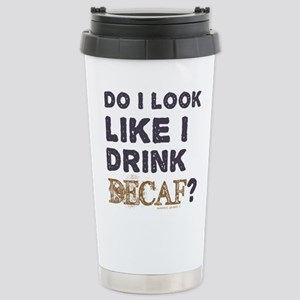 Coffee Decaf Stainless Steel Travel Mug