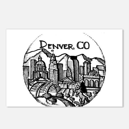 Denver Downtown City Land Postcards (Package of 8)