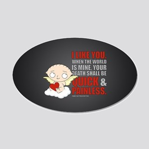 Family Guy Painless 20x12 Oval Wall Decal