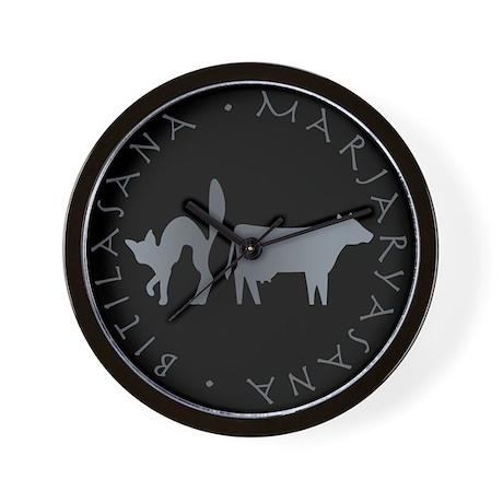 Cat-Cow Wall Clock