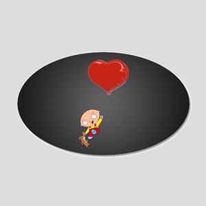 Family Guy Heart 20x12 Oval Wall Decal
