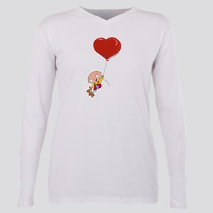 Family Guy Heart Plus Size Long Sleeve Tee