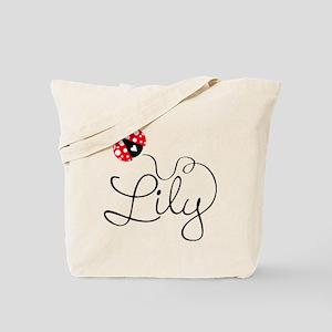 Ladybug Lily Tote Bag