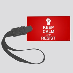 Keep Calm and Resist Luggage Tag