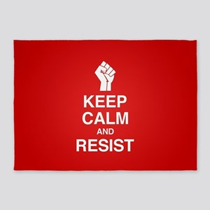 Keep Calm and Resist 5'x7'Area Rug