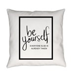 Be Yourself Printable Everyday Pillow