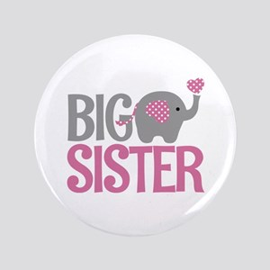 Elephant Big Sister Button