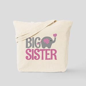 Elephant Big Sister Tote Bag