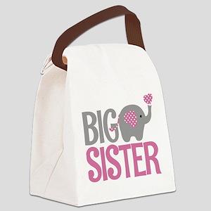 Elephant Big Sister Canvas Lunch Bag