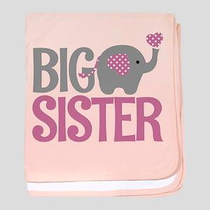 Elephant Big Sister baby blanket