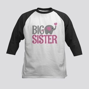 Elephant Big Sister Baseball Jersey