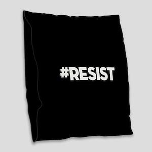 #RESIST Burlap Throw Pillow