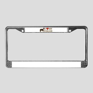 Love Collie License Plate Frame