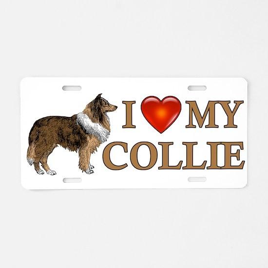 Love Collie Aluminum License Plate