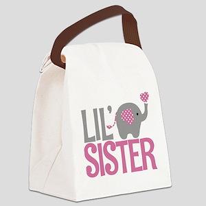 Elephant Little Sister Canvas Lunch Bag