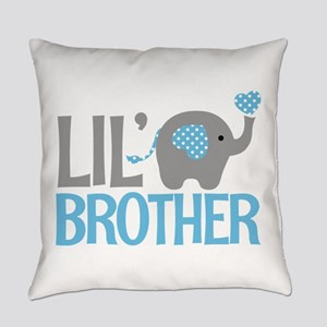 Elephant Little Brother Everyday Pillow