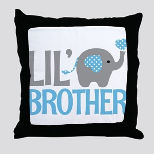 Elephant Little Brother Throw Pillow