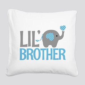 Elephant Little Brother Square Canvas Pillow