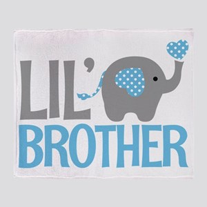Elephant Little Brother Throw Blanket