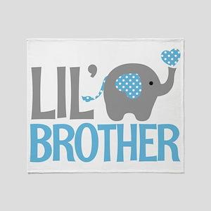 Elephant Little Brother Throw Blanket