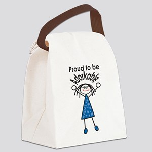 Proud to be Adorkable-Woman Canvas Lunch Bag