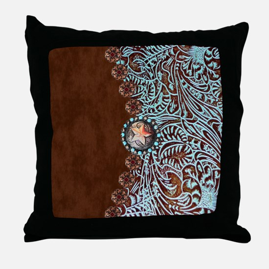 Cute Country western Throw Pillow