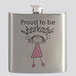 Proud to be Adorkable-Girl Flask