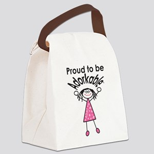 Proud to be Adorkable-Girl Canvas Lunch Bag