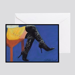 """""""Boots"""" Blank Greeting Card"""