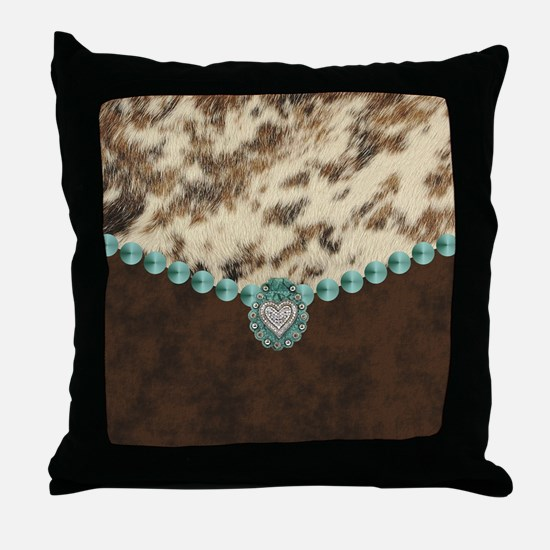 Funny Leather Throw Pillow