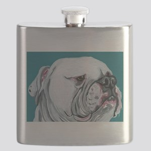 American Bulldog Flask