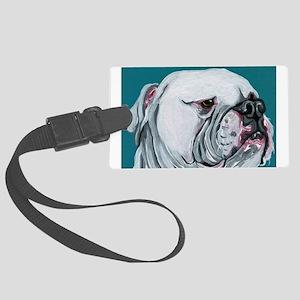 American Bulldog Large Luggage Tag