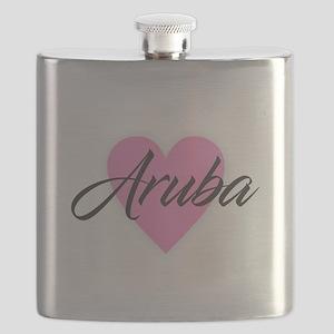 I Heart Aruba Flask
